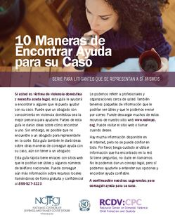 cover photo of 10 Maneras de Encontrar Ayuda para su Caso
