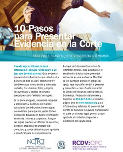 cover photo of 10 Pasos para Presentar Evidencia en la Corte