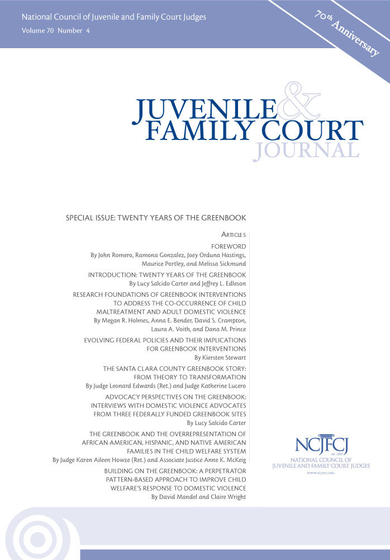 Juvenile and Family Court Journal, Vol. 70, No. 4 - Special Issue: Twenty Years of the Greenbook